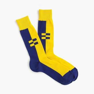 J.Crew X Human Rights Campaign colorblock socks