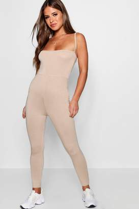 boohoo Petite Strappy Square Neck Jumpsuit