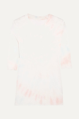 The Elder Statesman Tie-dyed Cashmere And Silk-blend Top - Pink
