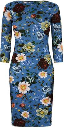 Erdem Reese Floral Fitted Dress