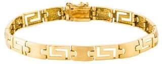 18K Greek Key Link Bracelet