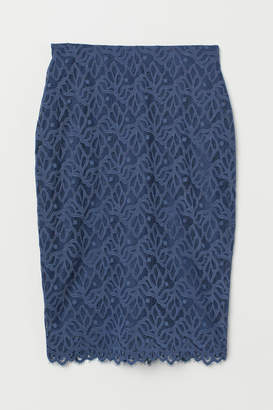 H&M Fitted Lace Skirt - Blue
