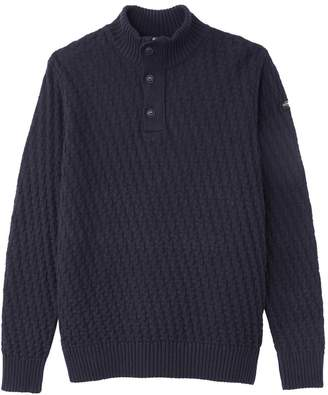 Schott PL Barkley 1 Zipped and Buttoned High Neck Jumper
