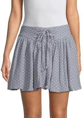 Free People Women's Polka-Dot Flare Skirt