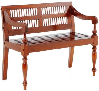 Southern Enterprises Classic Mahogany Bench