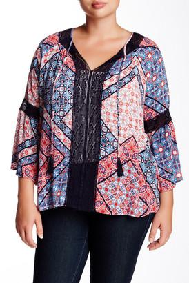 Jessica Simpson Alaya Printed Peasant Blouse (Plus Size) $69 thestylecure.com