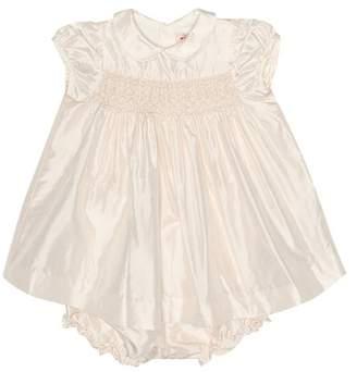 Bonpoint Précieuse silk dress and bloomer set
