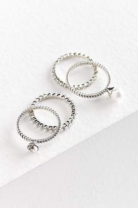 Urban Outfitters Maeve Pearl Ring Set