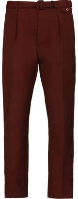 Prada belted tapered trousers