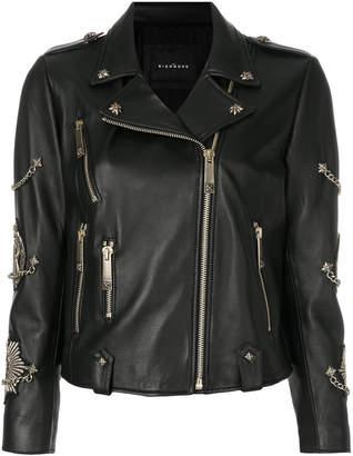 John Richmond zipped biker jacket