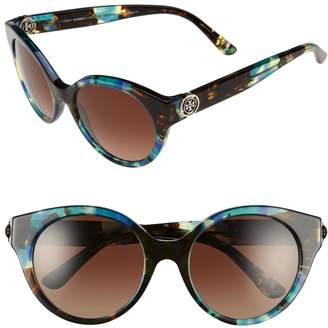 Tory Burch 52mm Polarized Cat Eye Sunglasses