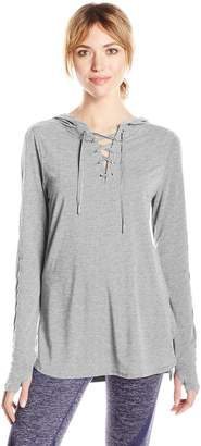 Nanette Lepore Play Women's Hooded Pullover Withbeaded Twill Tap D/s