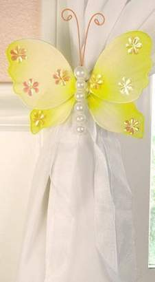 Isabella Collection The Butterfly Grove Nylon Butterfly Curtain Tieback - Yellow Sold Individually)