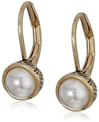 The Sak Pearl Leverback Drop Earrings