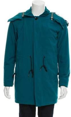 Paul Smith Hooded Knee-Length Coat
