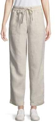 Lord & Taylor Jaden Linen Drawstring Pants