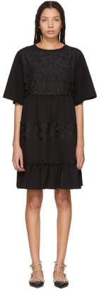 See by Chloe Black Lace Overlay Flowy Dress