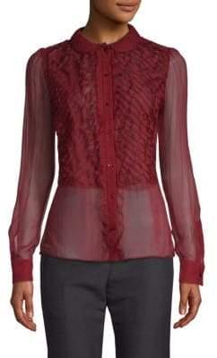 Valentino Sheer Silk Button-Down Shirt