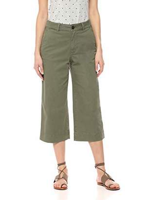 Amazon Brand - Daily Ritual Women's Washed Chino Wide Leg Crop