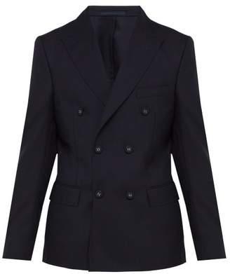 Officine Generale Raphael Double Breasted Wool Blazer - Mens - Navy