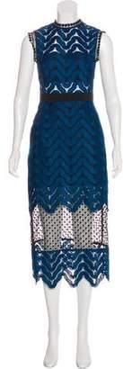 Self-Portrait Sleeveless Lace Midi Dress