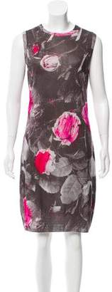 Christopher Kane Sleeveless Floral Print Dress