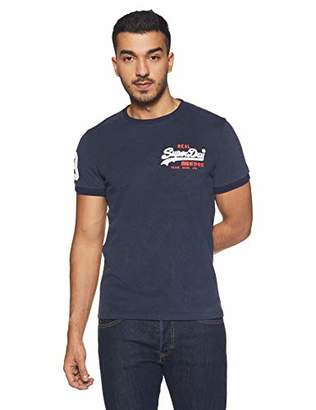 Superdry Men's M10034tr Kniited Tank Top, (Shadow Cast Navy Blue Marl Vw4)