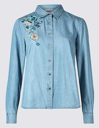 Marks and Spencer Embroidered Long Sleeve Shirt