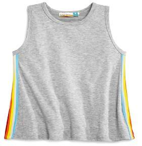 Vintage Havana Girls' Rainbow-Stripe Terry Tank - Big Kid