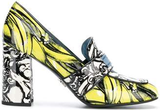 Prada banana print pumps