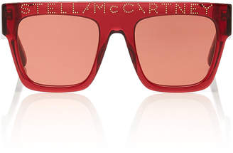 3cb8bbed199 Stella McCartney Sunglasses Logo Stud-Embellished Square-Frame Sunglasses