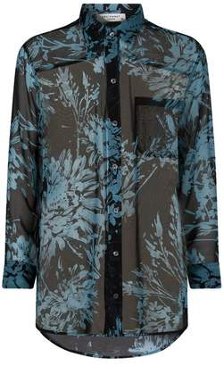 Equipment Floral Silk Daddy Blouse