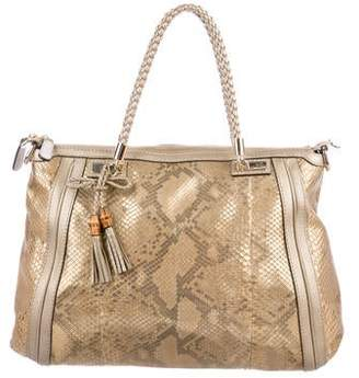 Gucci Python Bella Top Handle Bag