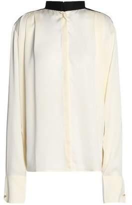 Amanda Wakeley Pleated Silk Blouse