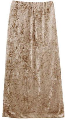 LAGUNAMOON (ラグナムーン) - LAGUNAMOON クラッシュベロアロングスカート
