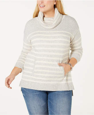 Charter Club Plus Size Cowl-Neck Sweater