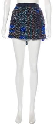 Roseanna Textured Mini Skirt