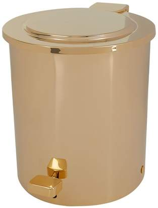 Zodiac Cylinder Gold-Plated Pedal Bin