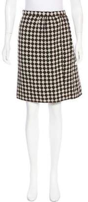 Oscar de la Renta Printed Knee-Length Skirt