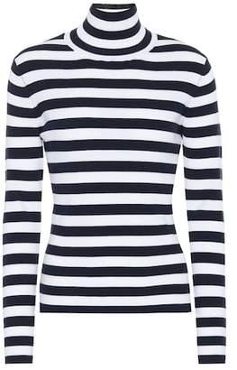 Tory Sport Striped wool turtleneck sweater