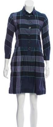 Burberry Exploded Check Mini Dress Blue Exploded Check Mini Dress