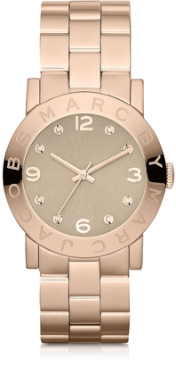 Marc by Marc Jacobs Amy 36.5 MM Rose Gold Tone Stainless Steel Women's Watch $200 thestylecure.com