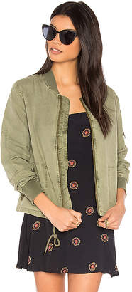 Michael Stars Cinched Bomber in Olive $188 thestylecure.com
