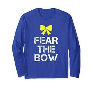 Cheerleader Fear The Bow Yellow Bow Cheerleading Long Sleeve