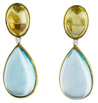 Faraone Mennella 18K Topaz, Citrine & Diamond Drop Earrings