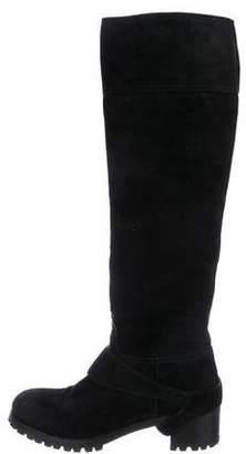 Prada Suede Over-The-Knee Boots