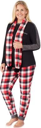 Cuddl Duds Plus Size Wonderland 3-piece Microfleece Pajama Set