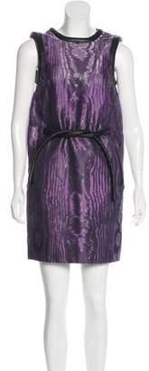 Christopher Kane Leather-Trimmed Mini Dress
