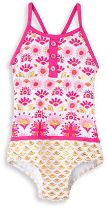 Hatley Little Girl's and Girl's Sarchi Colourblock Swimsuit