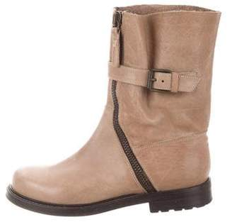 Buttero Leather Mid-Calf Boots
